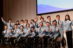 2月5日、ソチパラリンピック日本代表結団式・壮行会あとの記者会見で