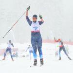 Women's Standing Sprint Final ロシア・MILENINA選手の勝利の瞬間(写真:RYO ICHIKAWA/studio AFTERMODE)