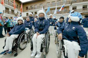 3月4日、ソチパラリンピック選手村入村式