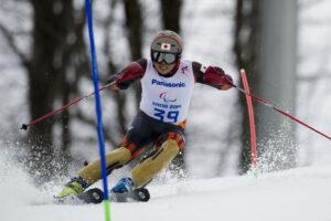 3月13日のスラロームで8年ぶりのパラリンピック復帰戦となった東海将彦(LW3)の滑り