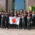 開会式に出発する日本選手団