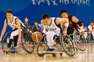 仁川車いすバスケット、日韓戦は1点差で韓国がリード!