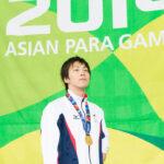2014年/仁川アジアパラ競技大会・競泳男子50M自由形S9で優勝した山田拓朗