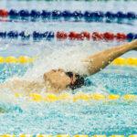 木村敬一、男子200M個人メドレーS12の背泳ぎ