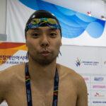男子100M背泳ぎS7で江島大佑が金メダル