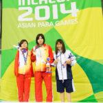 女子100背泳ぎS8の表彰