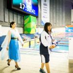 鎌田美希、女子100背泳ぎS8の表彰