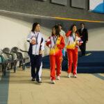 女子100M平泳ぎS9の表彰