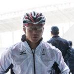 800Mを走り終えた樋口政幸(35歳・バリストライド) ミックスゾーンで