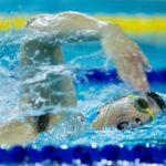 個人エントリー6種目で金3・銀3を獲得した山田拓朗。最終の400M自由形の泳ぎ 写真:越智貴雄