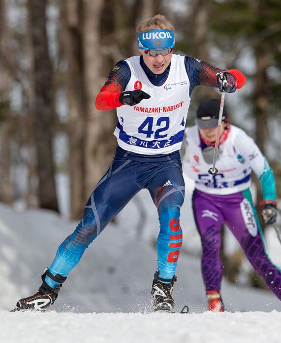 10kmフリーで優勝した、ルシャン・ミネグロフ(RUS)の走り 写真:越智貴雄