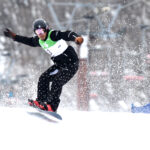 第1回全国障がい者スノーボード選手権大会で優勝した、鈴木隆太(33歳)の滑り