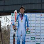 聴覚障害でただひとり出場した、中村晃大。表彰式で