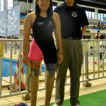 鎌田美希(400m自由形のアジア記録をもち、アジアパラ・ベストユースにも選ばれた17歳。奈良・高田高2年年)と櫻井さん