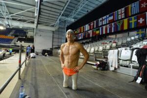 公式練習最終日のルディ・ガルシア・トルソン(アメリカ) 写真・佐々木延江