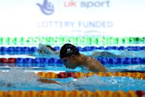 男子100メートルSB7で苦戦した、中村智太郎の泳ぎ 写真・佐々木延江