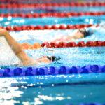 女子100メートル背泳ぎ、笠本明里