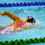 7月16日、50メートル自由形を泳ぐ一ノ瀬メイ