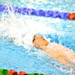 津川拓也、100メートル背泳ぎS14