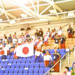 日本選手団関係者席