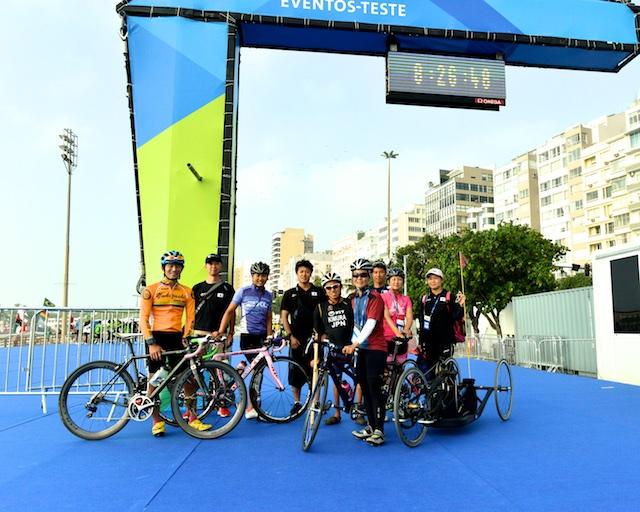 7月31日、リオパラリンピック・プレ大会出場のためリオデジャネイロにきた日本選手とスタッッフ。公式練習で