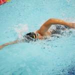 鎌田美希(両下腿欠損・大阪シーホース)400メートル自由形決勝で