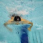 田中康大(知的障害・千葉市)100メートル平泳ぎSB14決勝の泳ぎ