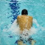 田中康大(知的障害・千葉市)100メートル平泳ぎS14決勝の泳ぎ