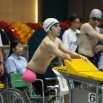 鈴木孝幸(両腕足欠損・ゴールドウィン)50メートル自由形S5、決勝のスタート前