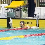 山田拓朗(左腕欠損・NTTドコモ)50メートル自由形S9のゴール