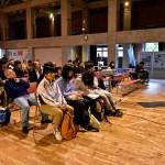 パラスポーツの関係者、関心のある人々約80名が旭川市市民活動交流センターCoCoDeに集まった