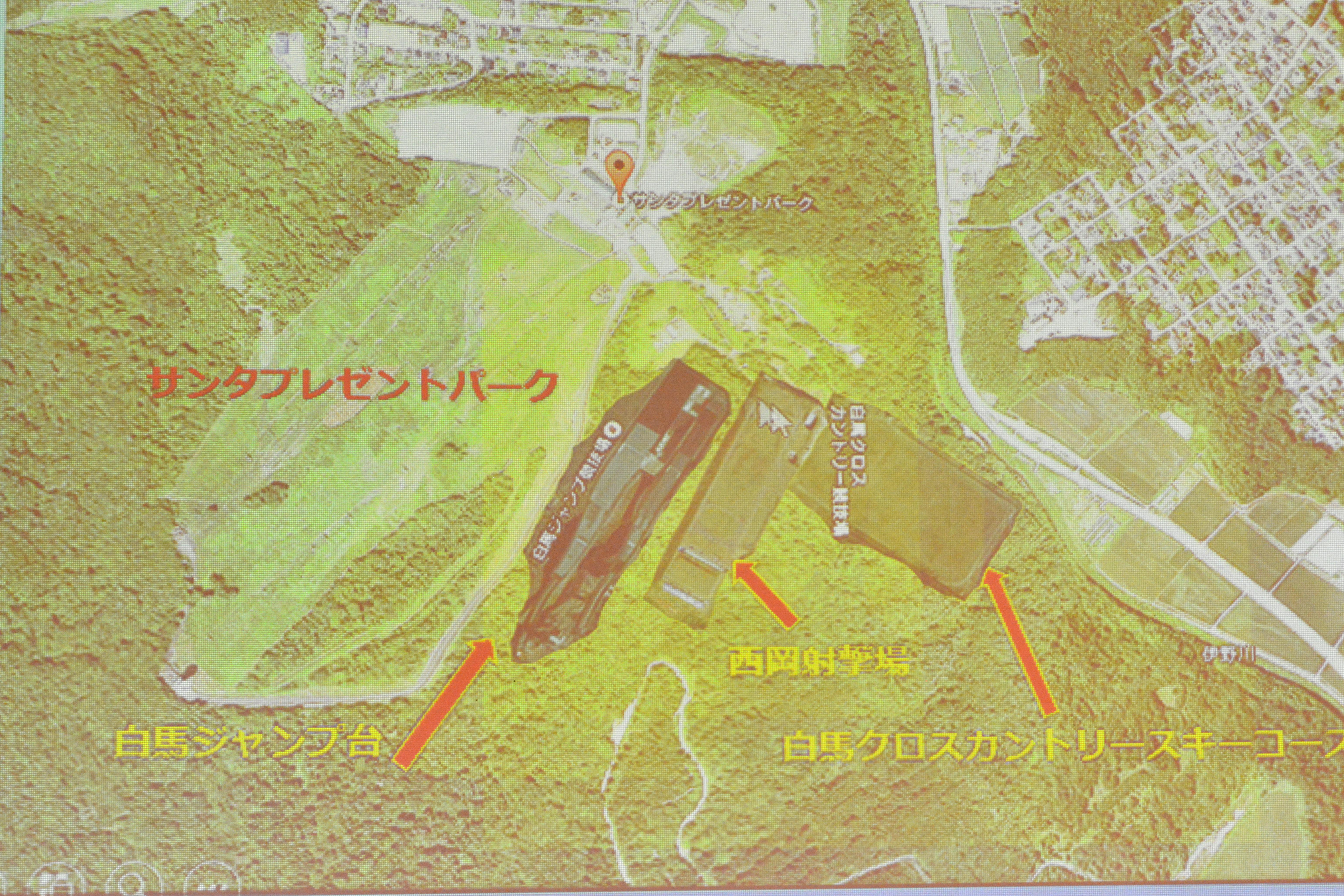 成田智樹さんが提案するバイアスロンコースの入った施設案
