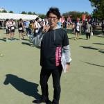 大会MCを努める、元エリート・トライアスリート松山アヤトさん