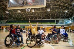 かながわパラスポーツフェスタ車椅子バスケット体験