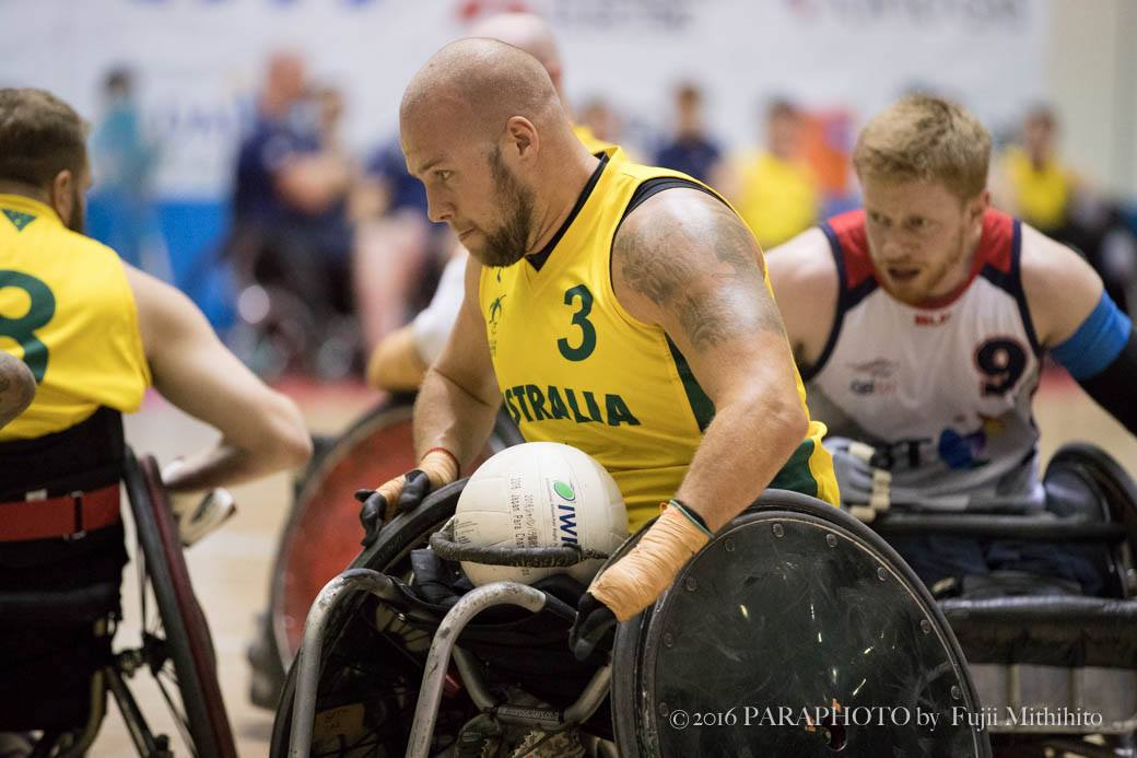決勝戦でオーストラリアはその強みを存分にぶつけてイギリスと対戦した。MVPとなったオーストラリア3番ライリー・バット(3.5) 写真・藤井理仁