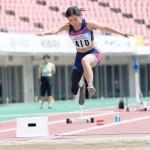 女子走幅跳・T42 大西瞳 3m52(+0.6)日本新記録 写真・山下元気