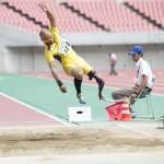 男子走幅跳・T42 山本篤 6m49(-0.4)大会新記録 写真・山下元気