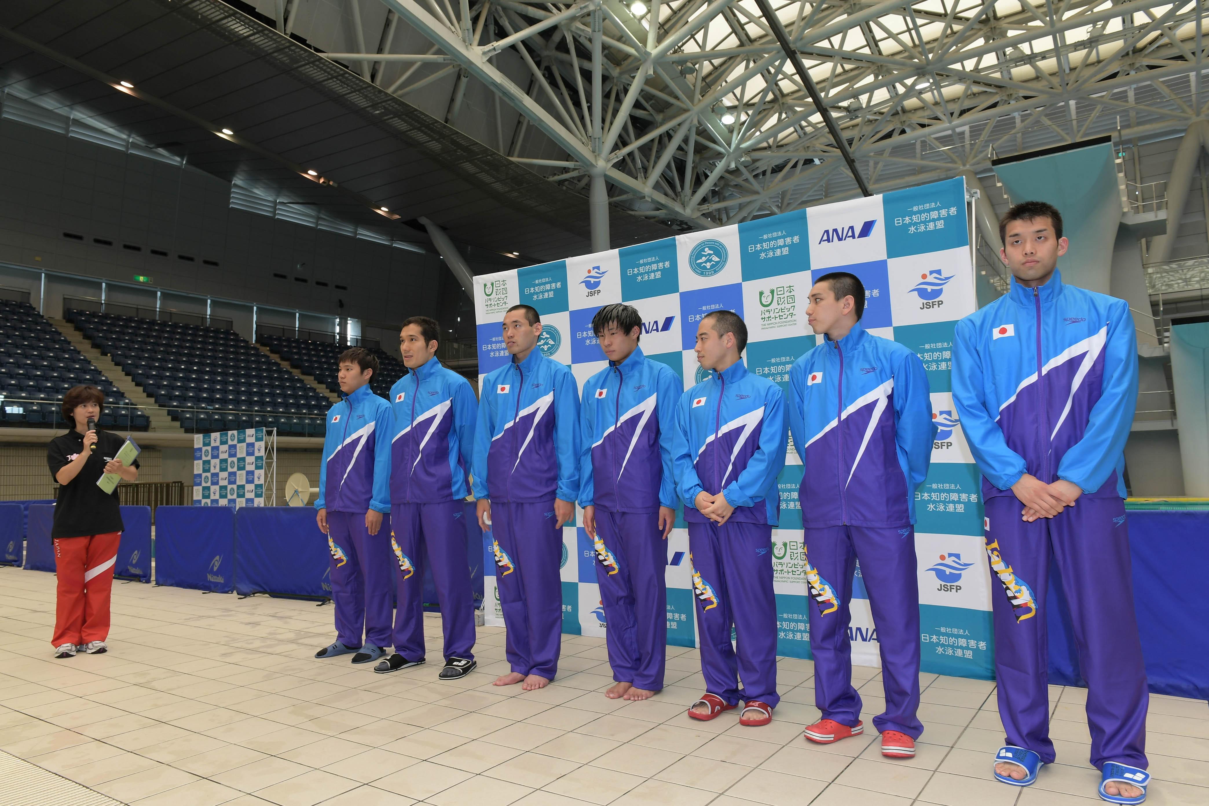知的障害クラスのリオパラリンピック日本代表候補7名が紹介された 写真・三浦宏之