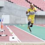 男子走幅跳・T42 決勝 山本篤 6m49(-0.4)大会新記録 写真・山下元気
