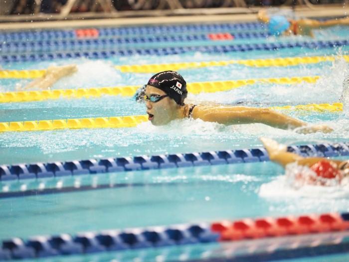 女子100メートル平泳ぎS10、リオパラリンピック日本代表池愛里(峰村PSS東京)この日6レースに出場した。 写真・西川隼矢