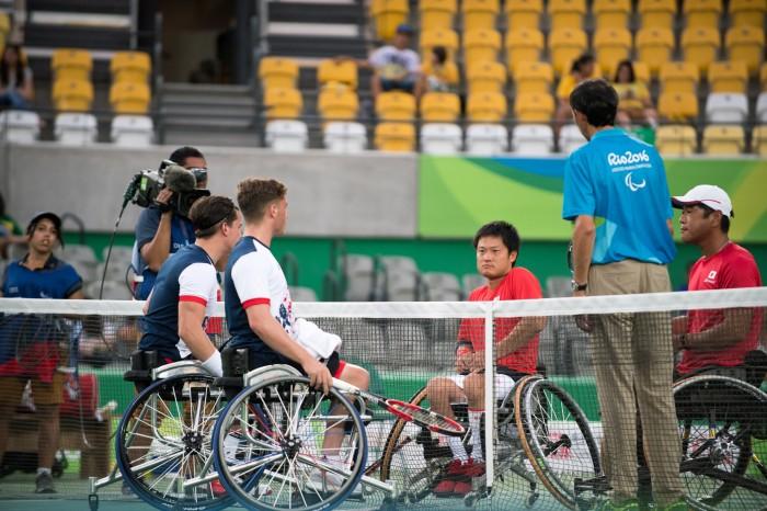 車いすテニス:男子ダブルス3位決定戦は日本人ペア同士の戦いに