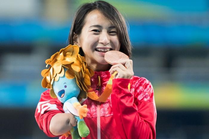辻紗絵400m涙の銅メダル獲得(撮影:三浦宏之)