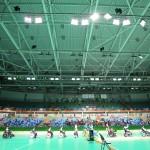 団体戦で銀メダルを獲得したボッチャ日本代表チーム 写真・中村真人