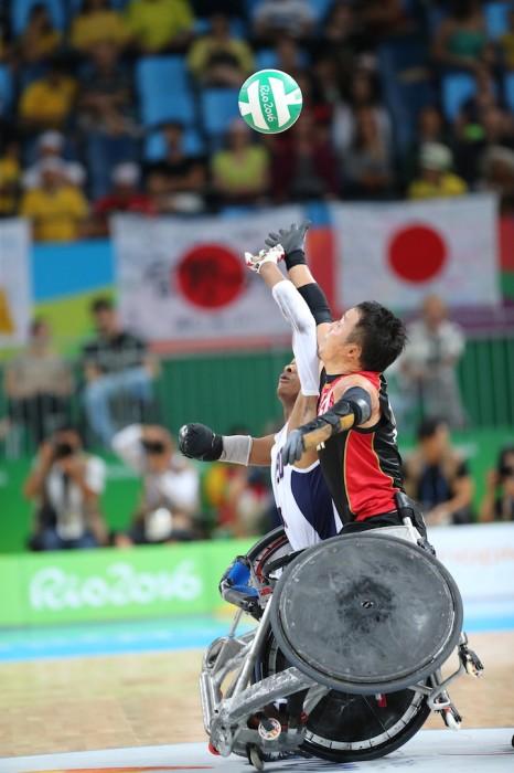 リオパラリンピックでの試合(アメリカ戦) 写真・中村Mant真人