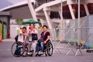 リオパラリンピックを観戦に 写真・山下元気
