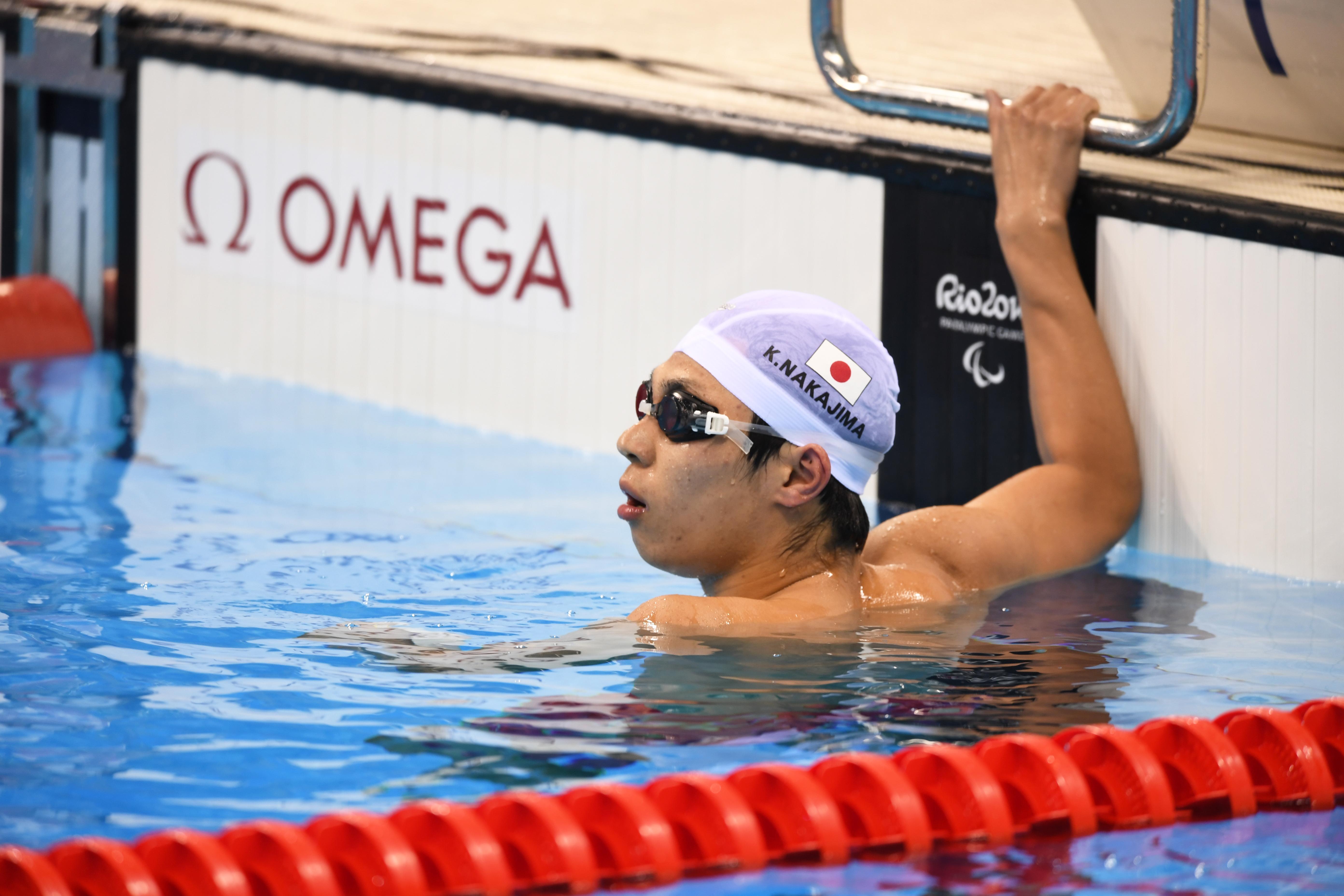 競泳男子200メートル自由形(S14)決勝の中島啓智選手