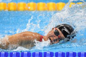 女子50メートル自由形(S5) 成田真由美の泳ぎ 写真・西川隼矢