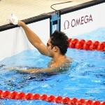木村敬一50メートル自由形の泳ぎ終えて