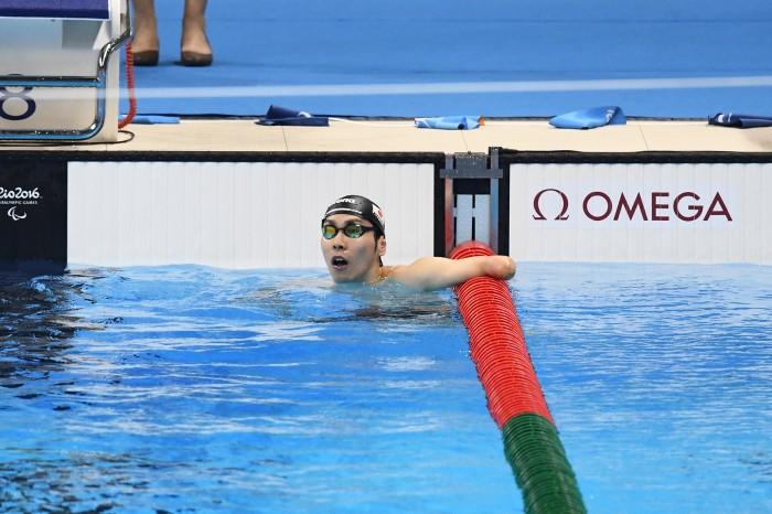 9月13日、50メートル自由形を泳いだ山田拓朗 撮影・西川隼矢