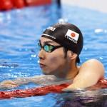 競泳8日目 予選を泳ぐ山田拓郎選手 撮影 西川隼矢